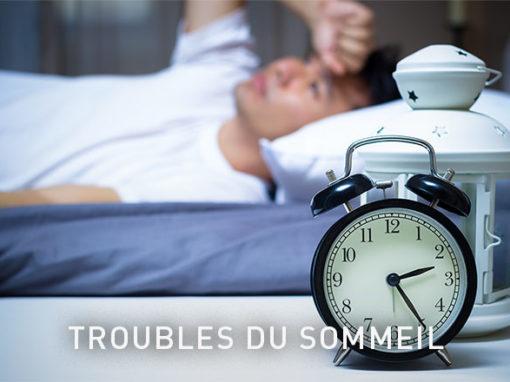 Troubles du sommeilLes troubles du sommeil se manifestent par des difficultés à s'endormir, un sommeil discontinu et un réveil prématuré avec pour conséquence une fatigue accrue, de l'abattement et des difficultés à récupérer naturellement.